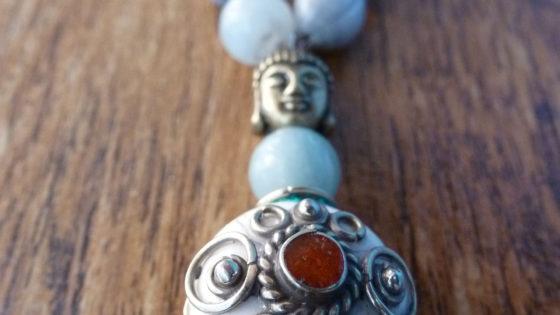 Amazonite, Zulu Beads & Tibetan Bead Mala