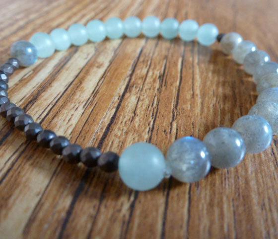 Labradorite, Aventurine & Hematite Bracelet