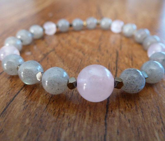 Labradorite & Rose Quartz Bracelet