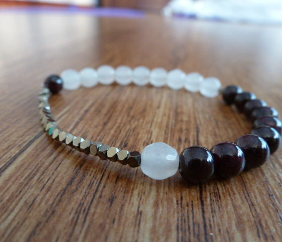 Pyrite & Almandine Garnet Bracelet