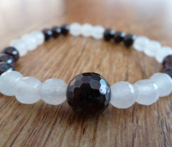 Moonstone & Almandine Garnet Bracelet